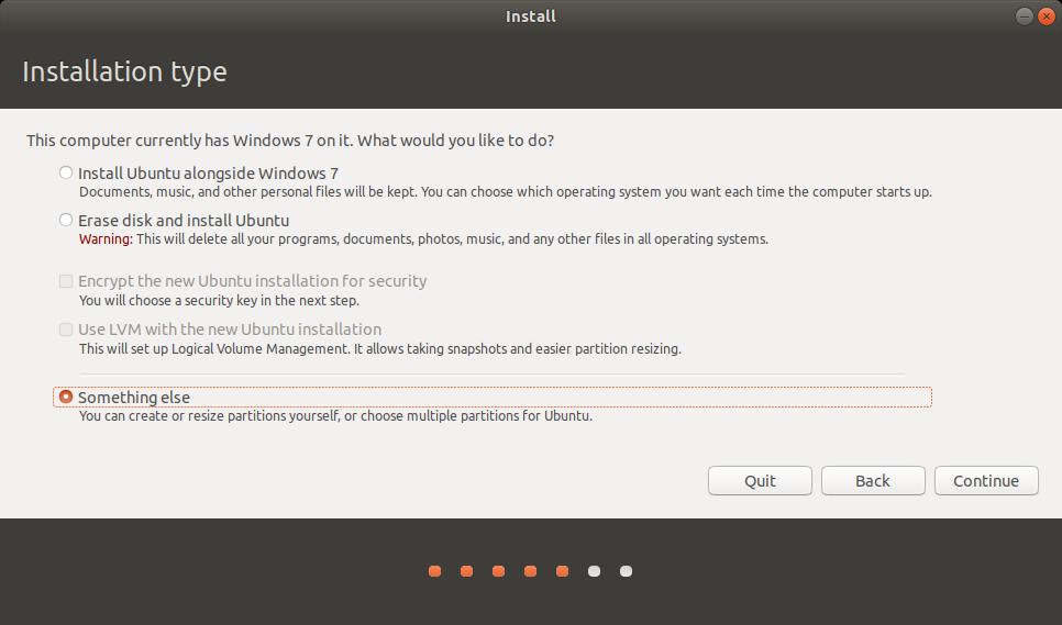 Ubuntu something else