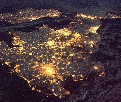Britain at night on bright-work.co.uk